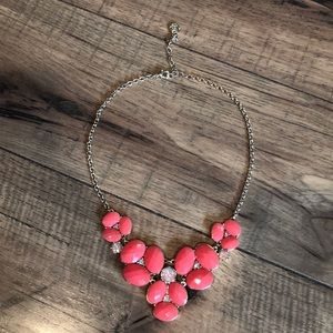 Jewelry - Coral and gold statement necklace.